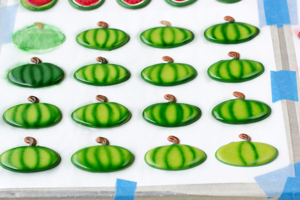 Royal Icing Watermelons by wwww.thebearfootbaker.com