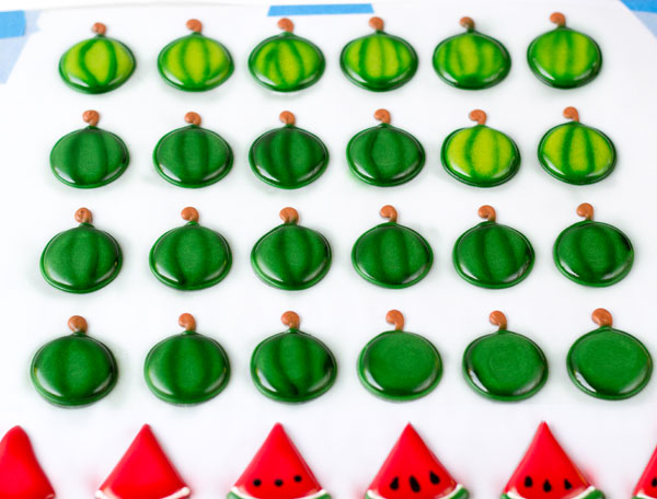 Royal Icing Watermelons