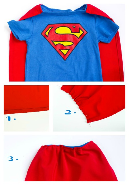 Simple Superman Costume for Toddlers by thebearfootbaker.com
