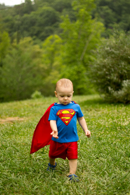 Superman Costume for a Toddler by The Bearfoot Baker