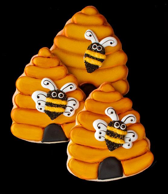 Beehive cookies by thebearfootbaker.com