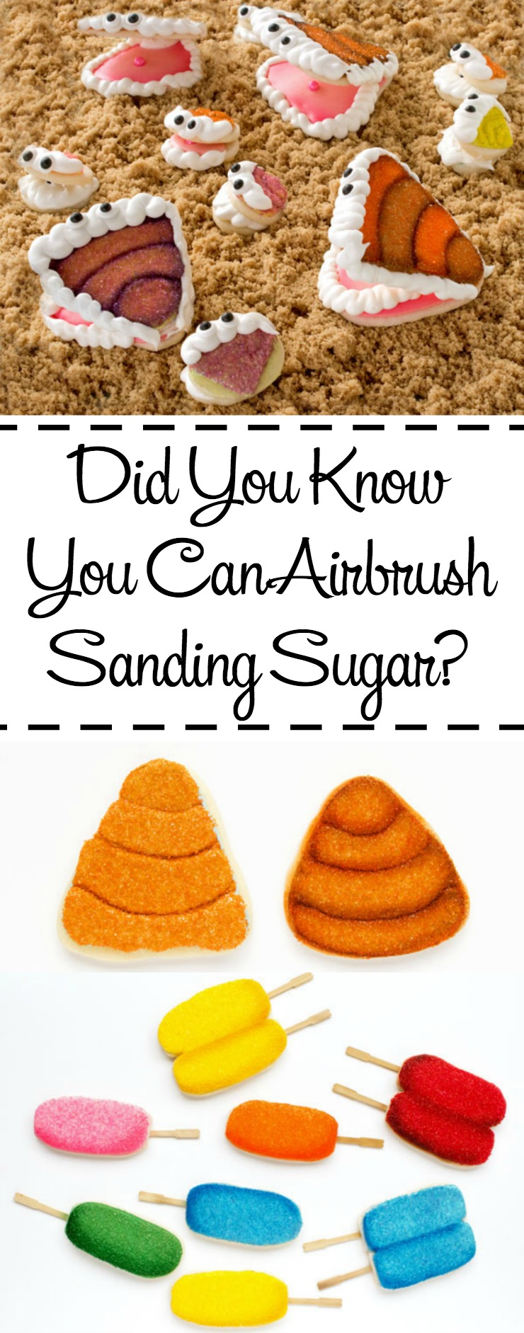 Did you Know You Can Airbrush Sanding Sugar? Learn how with this Clam Cookie Tutorial | The Bearfoot Baker