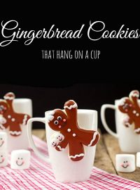 Gingerbread Men Coffee Cup Cookies Decorated Christmas Cookies via www.thebearfootbaker.com
