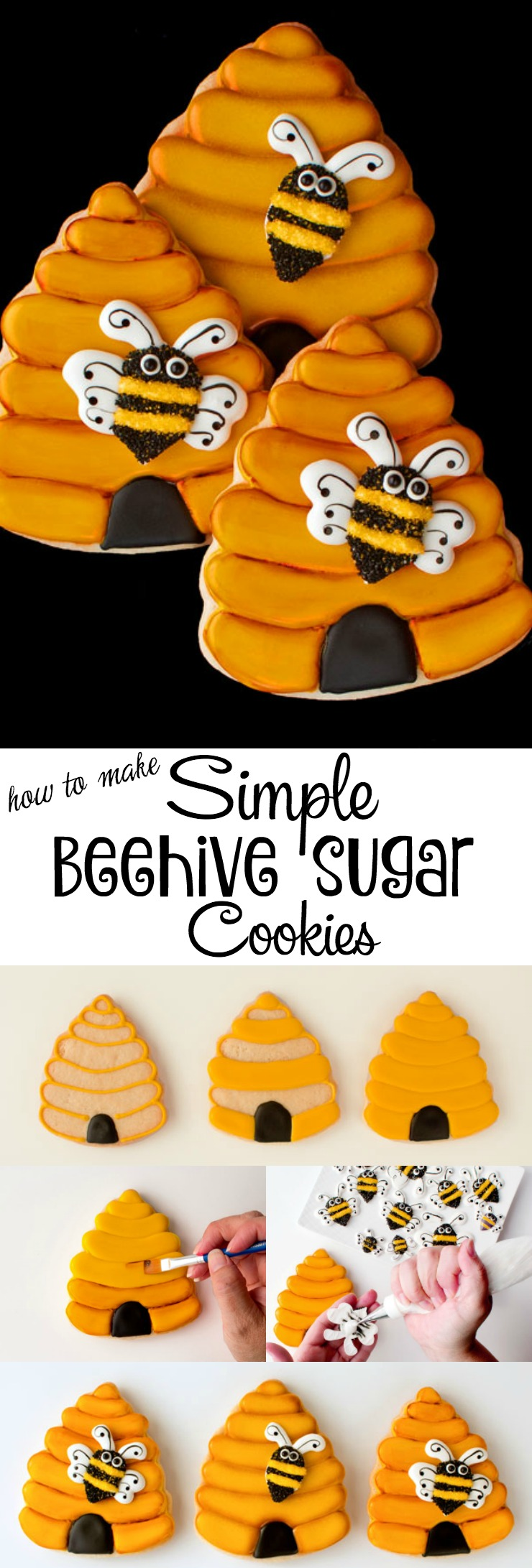 How to Make Simple Beehive Cookies | The Bearfoot Baker