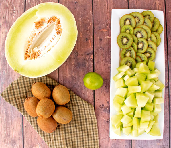 Honeydew Kiwi Lime Smoothie by thebearfootbaker.com