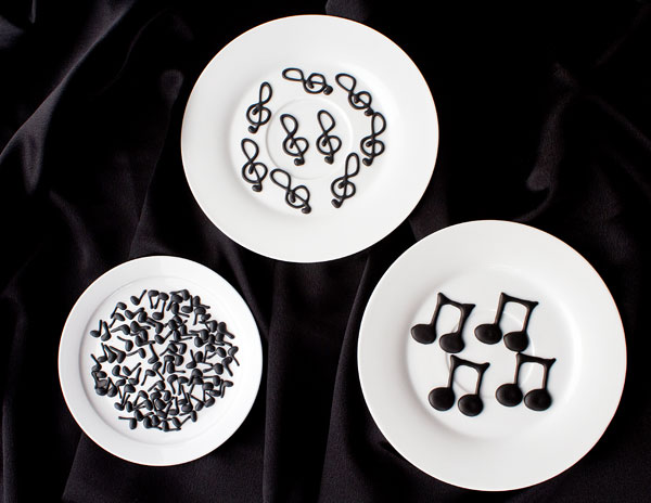 Music Note Royal Icing Transfers by thebearfootbaker.com
