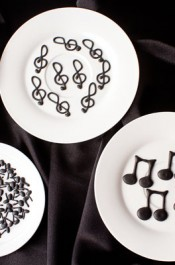 Music Note Royal Icing Transfers and Templates