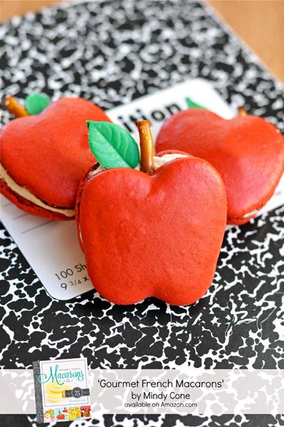 Gourmet French Macarons Book Giveaway-Apple-Macarons thebearfootbaker.com