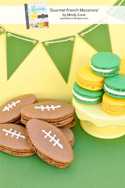 Gourmet French Macarons-Book-Giveaway-Football-Macarons thebearfootbaker.com