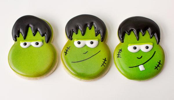 Cute Little Monster Cookies thebearfootbaker.com