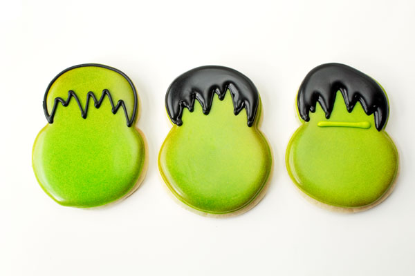 Cute Little Monster Cookies via thebearfootbaker.com