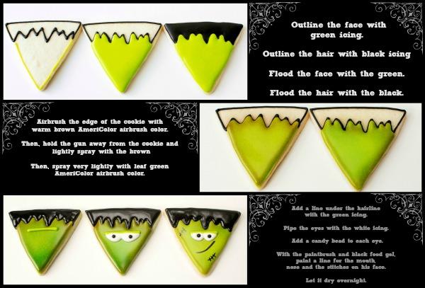 Frankenstein Halloween Cookies via thebearfootbaker.com