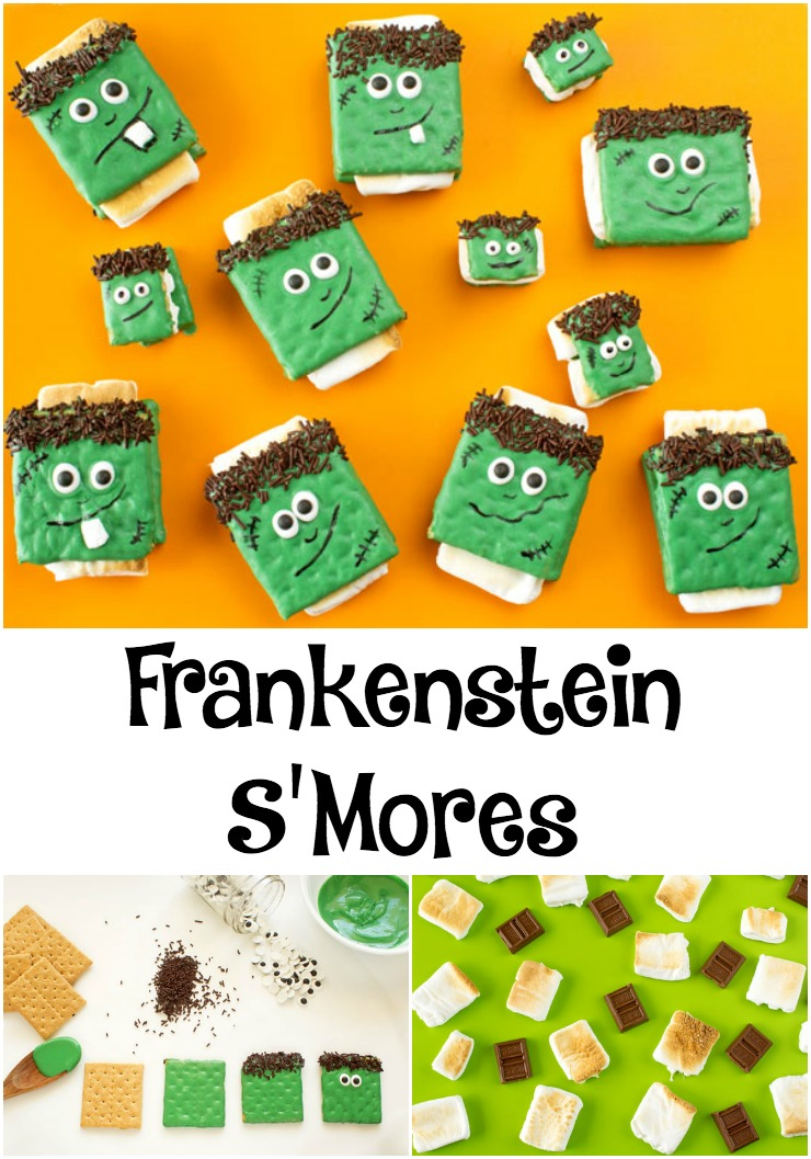 Frankenstein Halloween Smores | The Bearfoot Baker