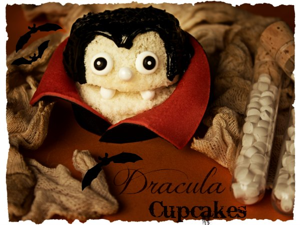 Fun Halloween Treats Dracula Cupcakes via thebearfootbaker.com