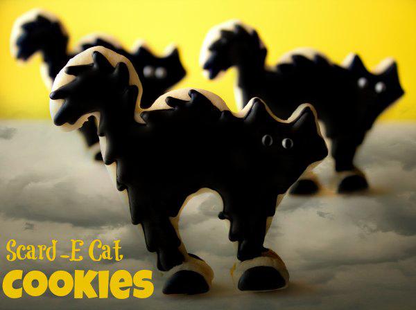 Fun Halloween Treats Scar-D-Cats-Cookies via thebearfootbaker.com