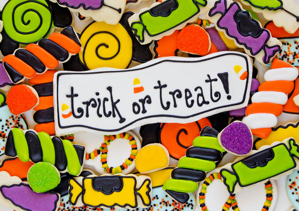 Halloween Candy Cookies and Creative use of Cookie Cutters via www.thebearfootbaker.com