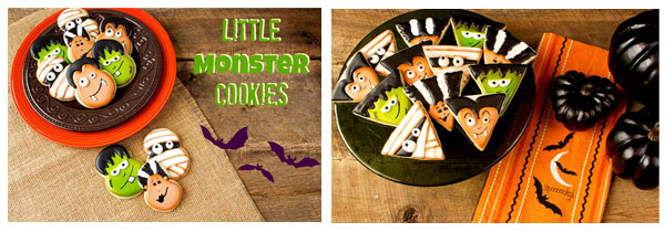 Halloween Cookies- One Tutorial with Endless Possibilities via www.thebearfootbaker.com