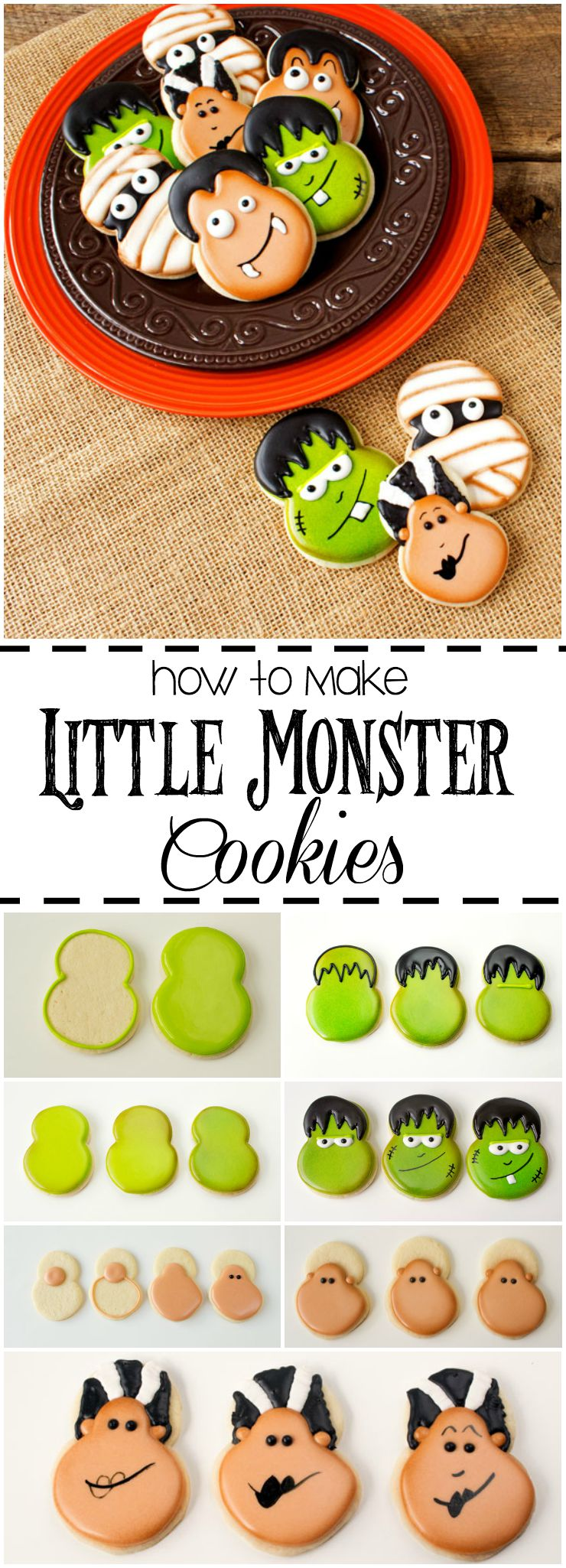 How to Make Little Monster Cookies via www.thebearfootbaker.com