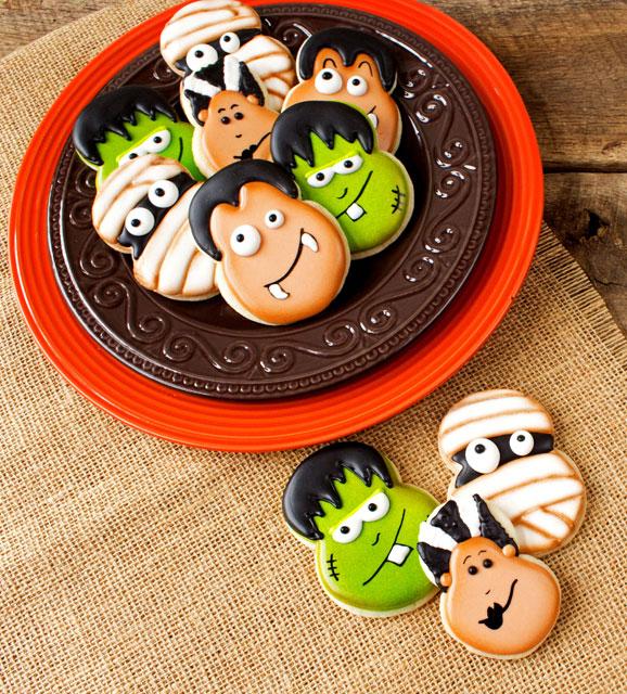 Little Monster Cookies by thebearfootbaker.com