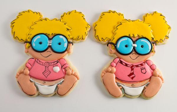 Adorable Baby Geek Cookies by www.thebearfootbaker.com