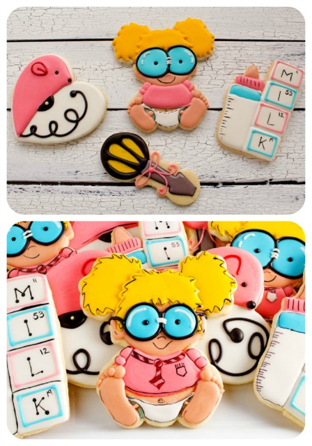 Adorable Baby Geek Cookies made by www.thebeafootbaker.com
