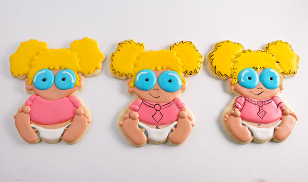 Adorable Baby Geek Cookies with thebearfootbaker.com