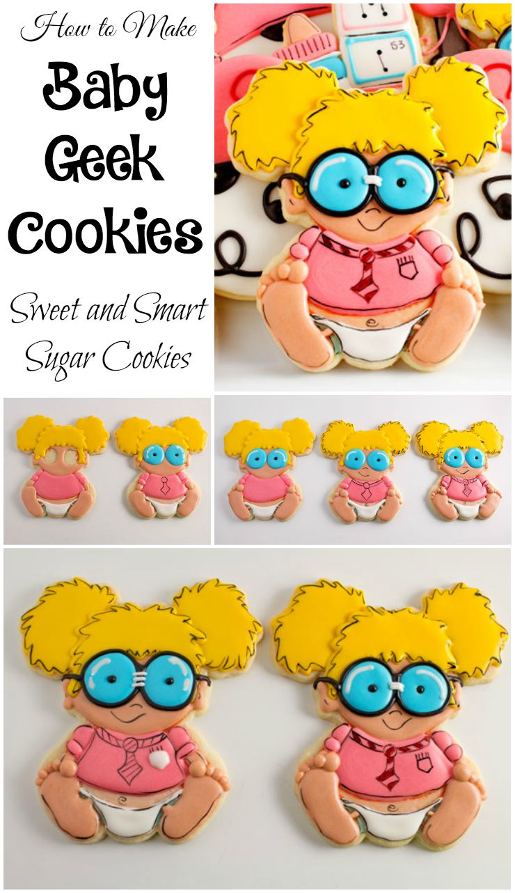 Baby Geek Cookies| The Bearfoot Baker