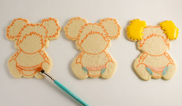 Baby Geek Cookies for a cuter little girl via thebearfootbaker.com