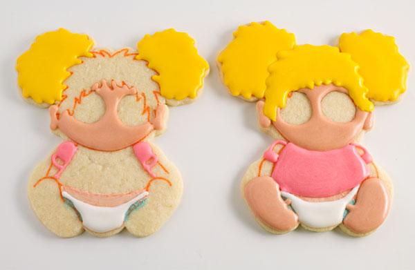 Cute Baby Geek Cookies via thebearfootbaker.com