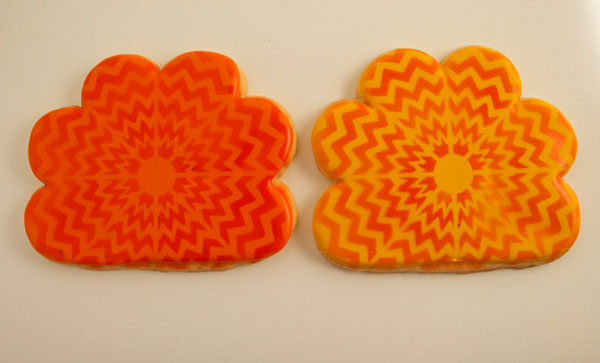 Cute Chevron Turkey Cookis thebearfootbaker.com