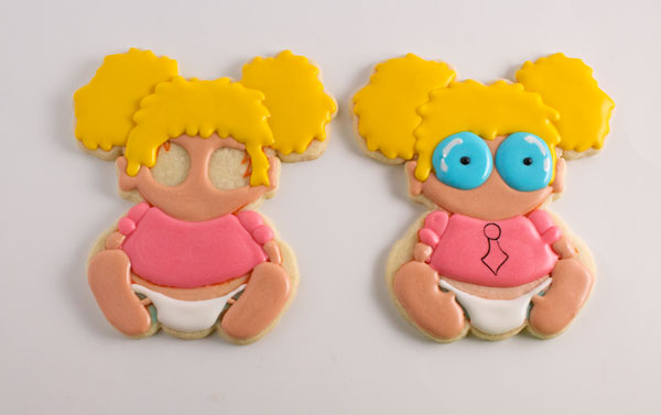 Fun Baby Geek Cookies via thebearfootbaker.com