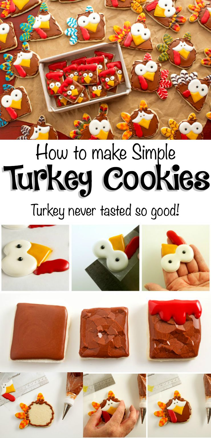 Turkey Nugget Cookies-Poor Turkeys! via www.thebearfootbaker.com