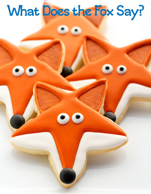 Favorites from 2013-What Does the Fox Say Cookies via thebearfootbaker.com