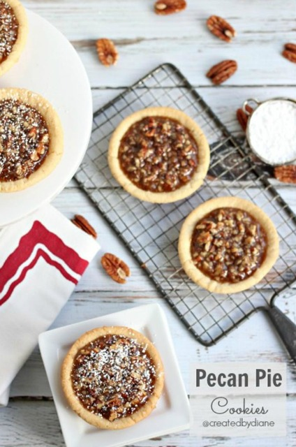 20+ Christmas Cookie Recipes via thebearfootbaker.com Pecan Pie Cookies by Created by Diane