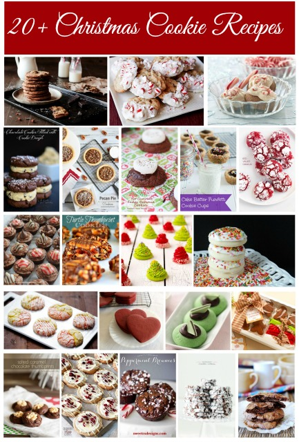 20+ Christmas Cookie Recipes with www.thebearfootbaker.com