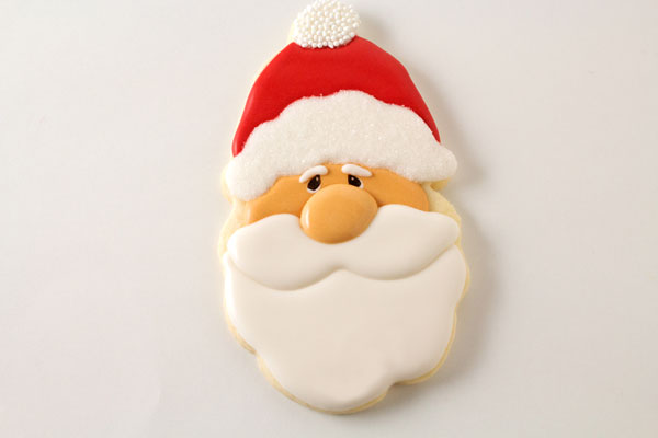 Adorable Santa Cookies by thebearfootbaker.com