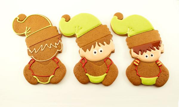 Baby Elf Cookies via www.thebearfootbaker.com