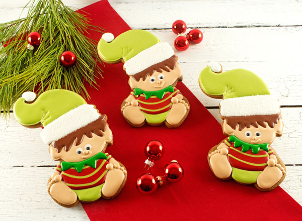 Baby Elf Cookies with www.thebearfootbaker.com