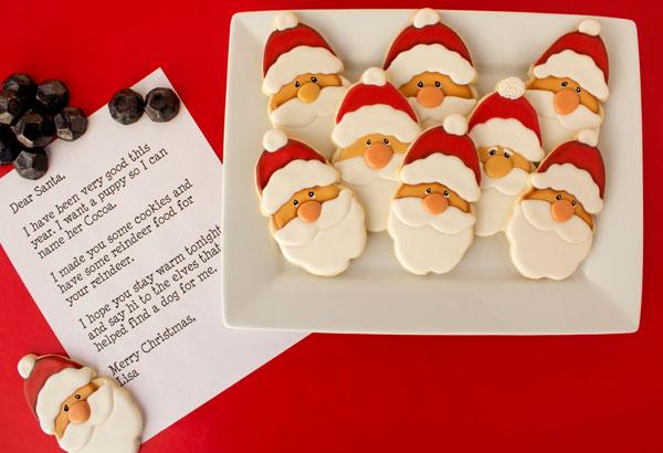 Dear Santa, I made you some Santa Cookies via www.thebearfootbaker.com