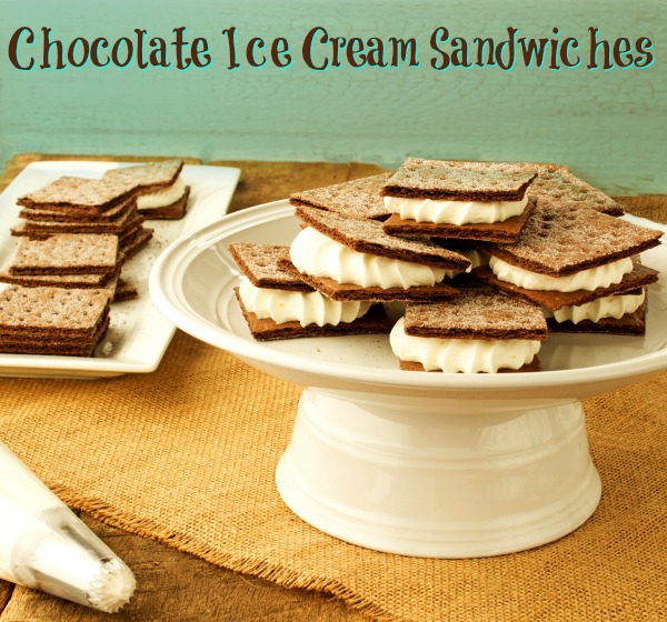 Simple Chocolate Ice Cream Sandwich Recipe via thebearfootbaker.com