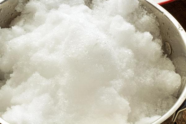 Snow for Snow Cream Recipe thebearfoootbaker.com