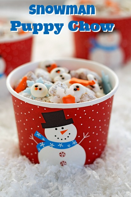 Snowman Puppy Chow Recipe