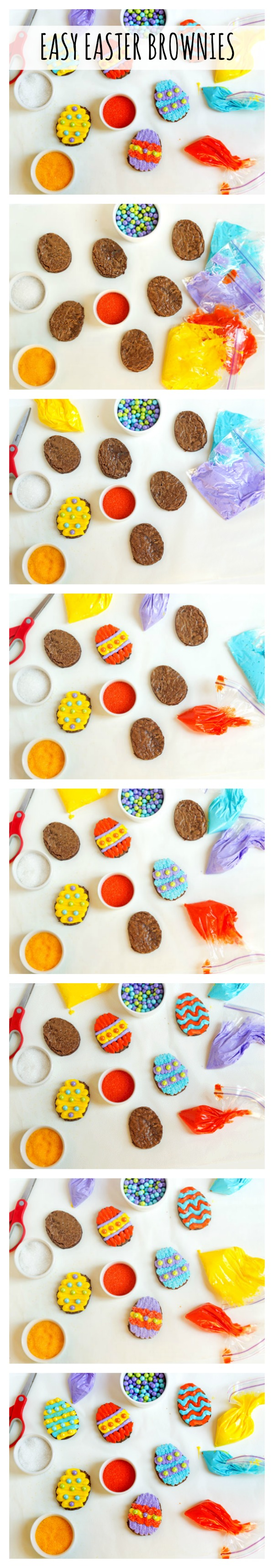 Easy Easter Egg Brownies From a Mix via thebearfootbaker.com