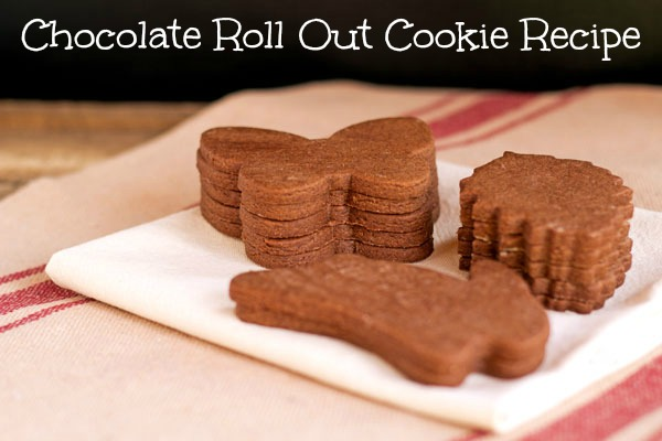 Chocolate Roll Out Cookie Recipe via www.thebearfootbaker.com
