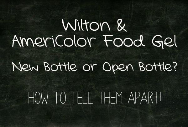 Food Gel Paste- New Bottle or Open Bottle by www.thebearfootbaker.com