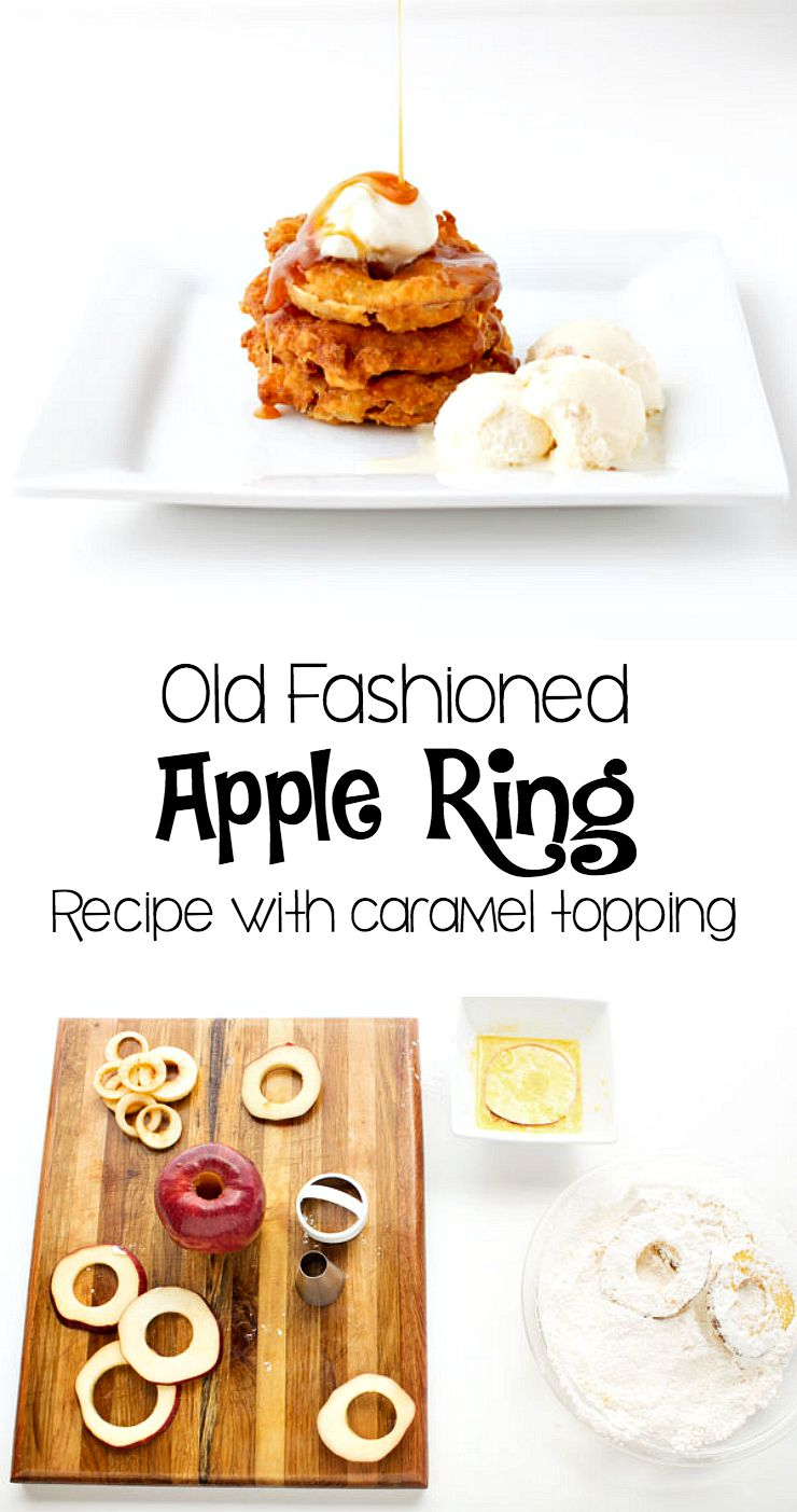 Apple Rings Recipe à La Mode with Caramel Sauce | The Bearfoot Baker