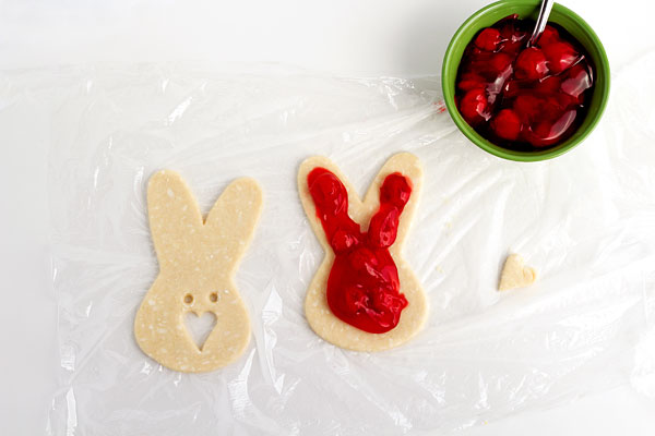 Hand Pies in Cute Bunny Shapes make a great dessert for Easter www.thebearfootbaker.com