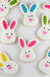 Rabbit Cookies with Chevron Ears and Video