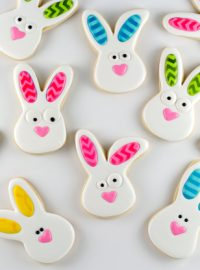 Rabbit Cookies with Chevron Ears www.thebearfootbaker.com