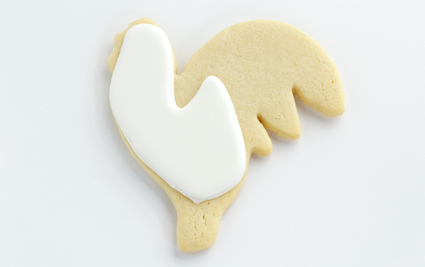Rooster Cookies-Decorated Sugar Cookies with thebearfootbaker.com